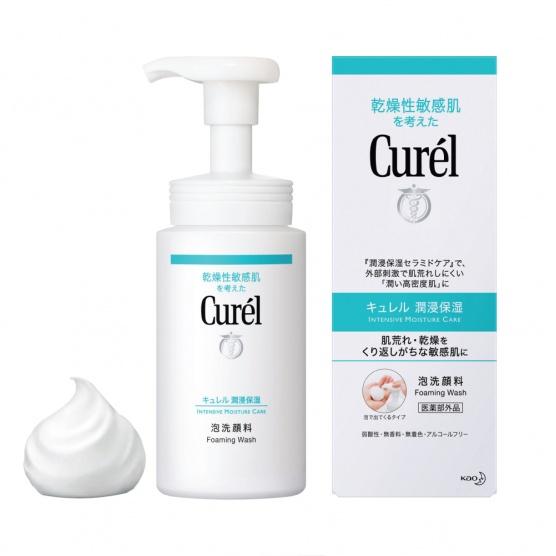 香港美妝排行榜 Curel 豐盈泡沫潔面乳